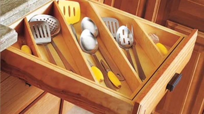 Diagonal Cutlery Drawer