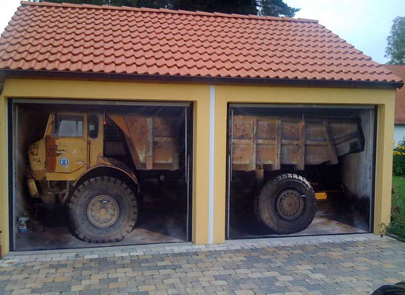 nice sideways garage door #3: The Coolest Garage Door Skins Totally Home Improvement