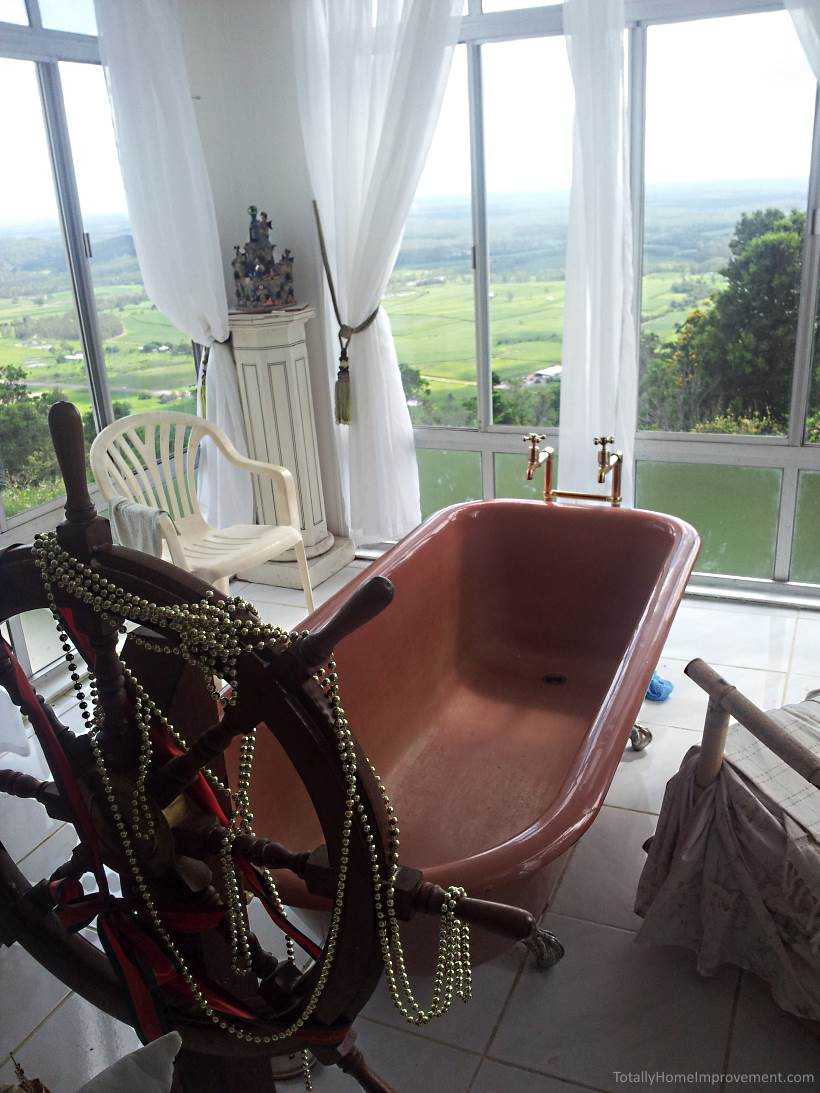bathtub with a great view