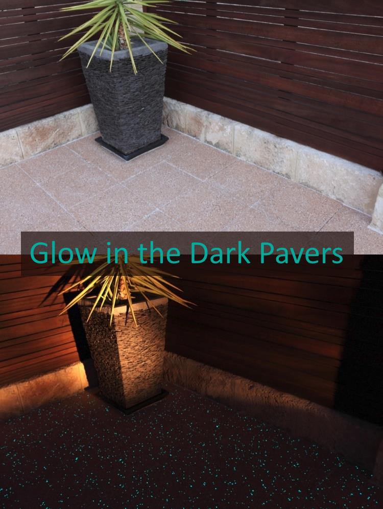Glowpave pavers