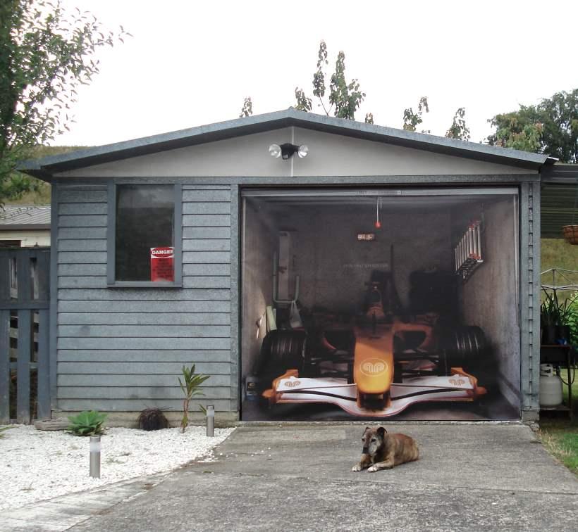 Funny Car Garage : The coolest garage door skins totally home improvement