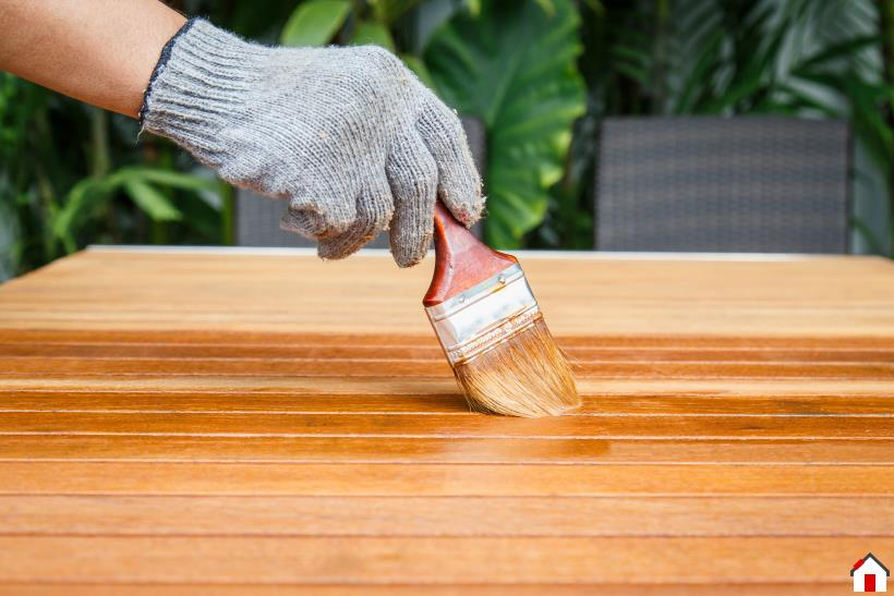 Refinishing a wood table top