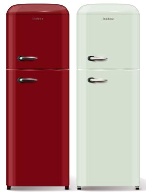 Examples of a retro style refrigerators