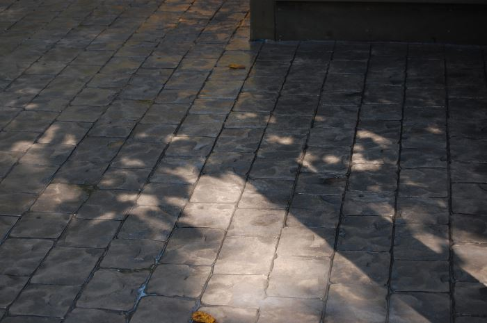 faux pavers - stamped concrete