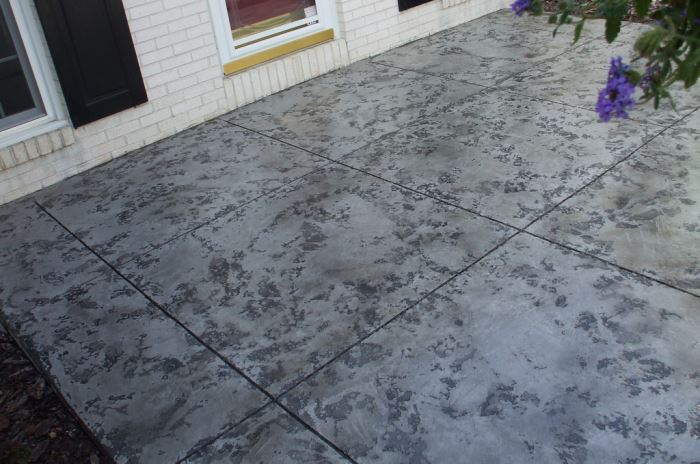 faux marble - stamped concrete