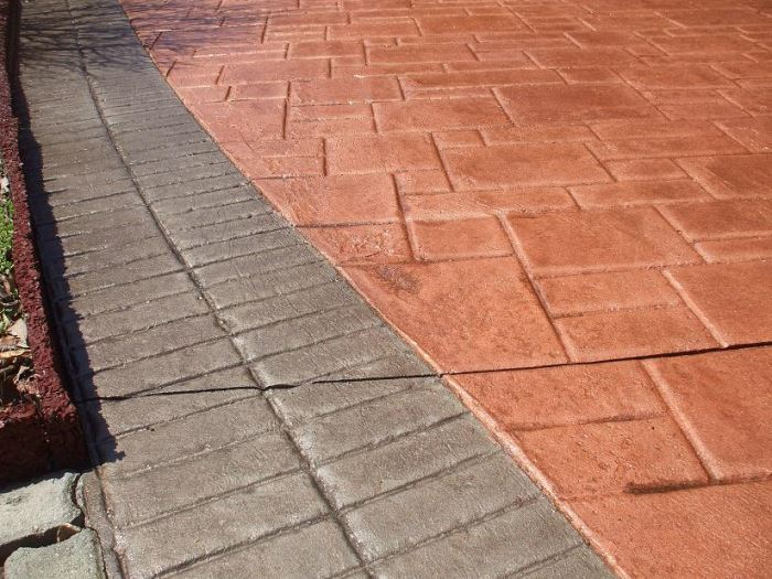 faux paving - stamped concrete