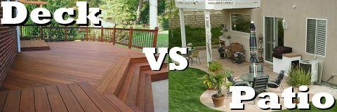 deck vs patio - Deck Vs Patio