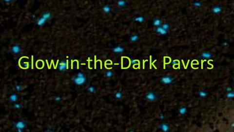 Pavers that glow in the dark