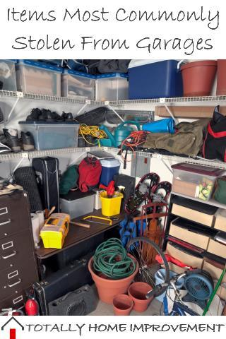 Items Most Commonly Stolen From Garages