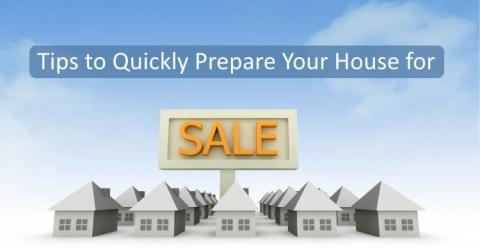 Preparing a house for sale quickly