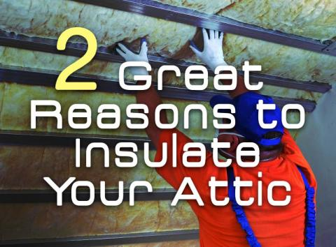 Two Great Reasons to Insulate Your Attic