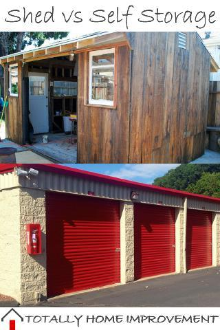 Storage Shed vs Self Storage Facility When Renovating