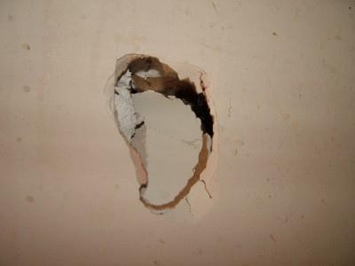 Hole in sheetrock