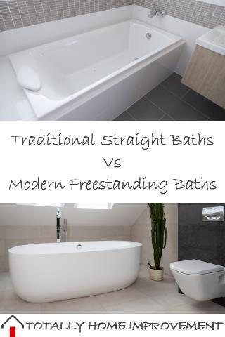 Traditional Straight Baths Vs Modern Freestanding Baths