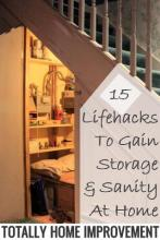 15 Lifehacks To Gain Storage & Sanity At Home