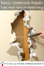 Basic Sheetrock Repair, Tape And Texture Made Easy