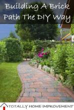 Building A Brick Path The DIY Way