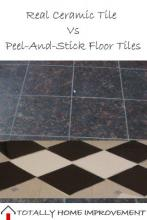 Real Ceramic Tile Vs Peel-And-Stick Floor Tiles