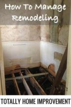 How To Manage Remodeling