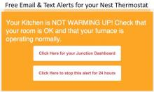 Email and Text alerts from Nest thermostat