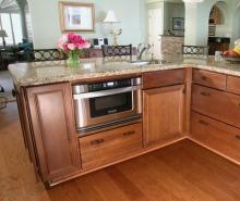Kitchen with wood flooring