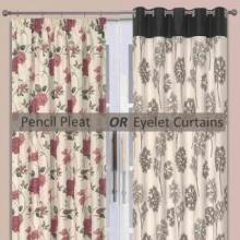 Pencil Pleat or Eyelet Curtains